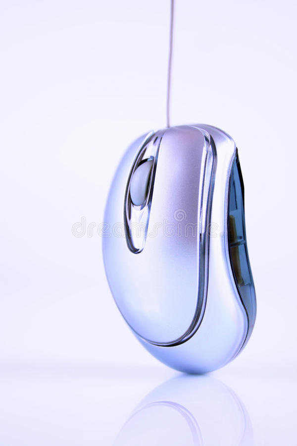 Ciérrese para arriba de ratón de la PC imagen de archivo