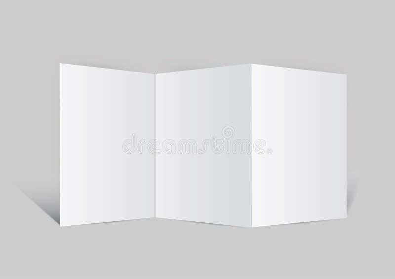 ciérrese para arriba de un Ba del vector del Libro Blanco del espacio en blanco del prospecto ilustración del vector