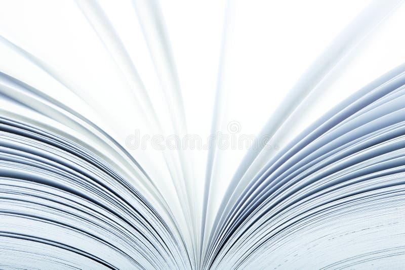 Ciérrese para arriba de un libro abierto foto de archivo libre de regalías