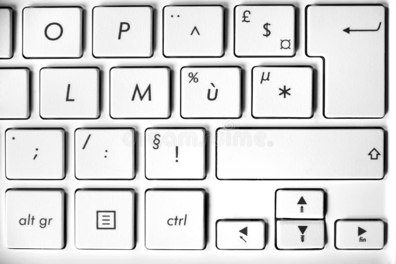 Ciérrese para arriba de un teclado de ordenador fotografía de archivo libre de regalías