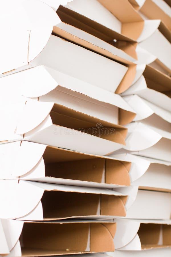 Ciérrese para arriba de una caja blanca imagen de archivo libre de regalías