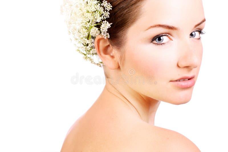 Ciérrese para arriba de una novia hermosa imágenes de archivo libres de regalías