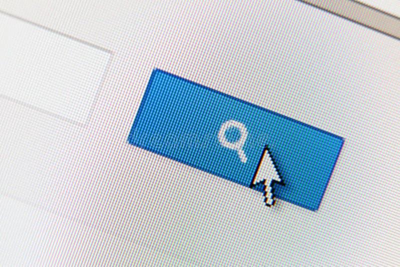 Ciérrese para arriba del botón de la búsqueda fotografía de archivo libre de regalías