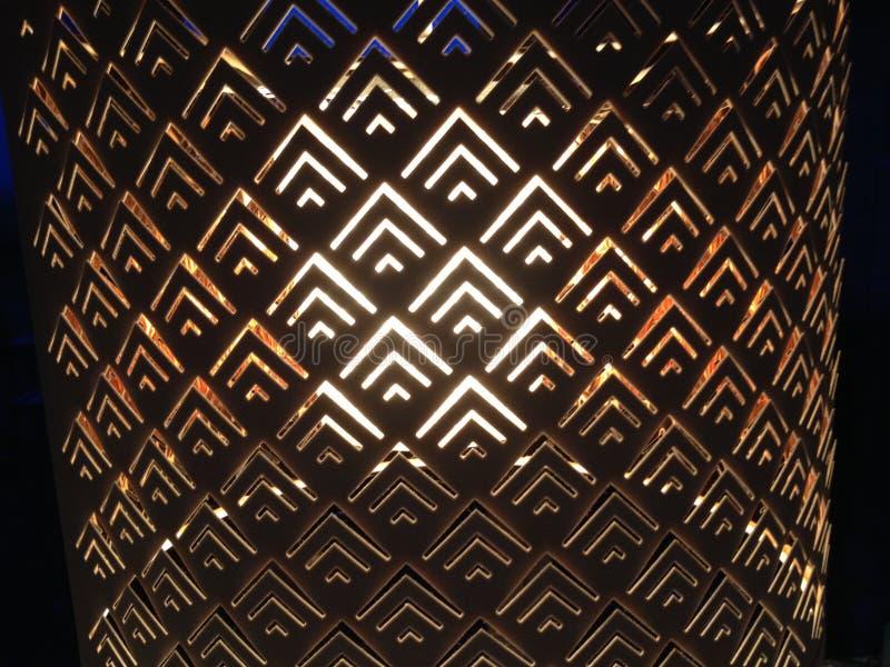Ciérrese para arriba del dado vuelta en la lámpara imagen de archivo libre de regalías