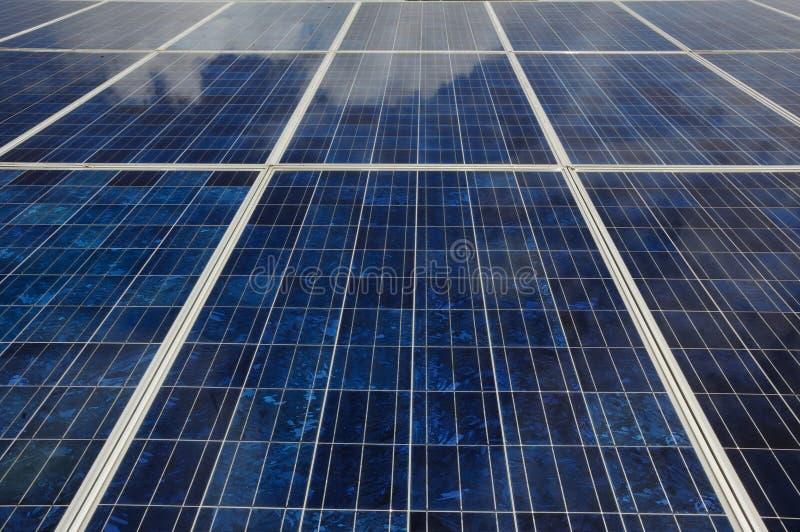 Ciérrese para arriba del panel solar fotografía de archivo libre de regalías
