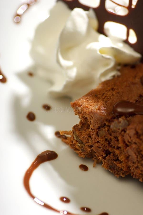Ciérrese para arriba del postre delicioso del chocolate fotos de archivo
