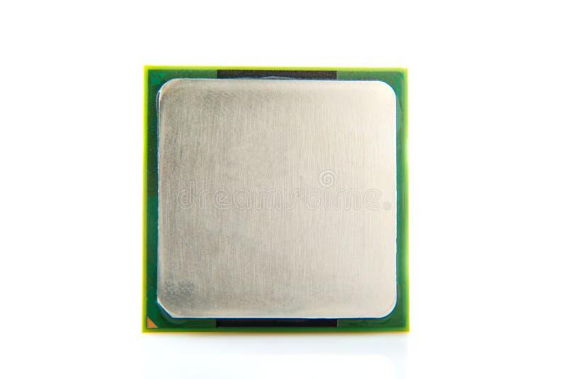 Ciérrese para arriba del procesador del ordenador aislado en el fondo blanco fotos de archivo libres de regalías