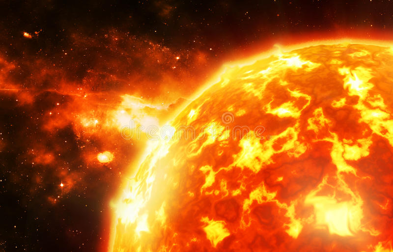 Ciérrese para arriba del sol libre illustration