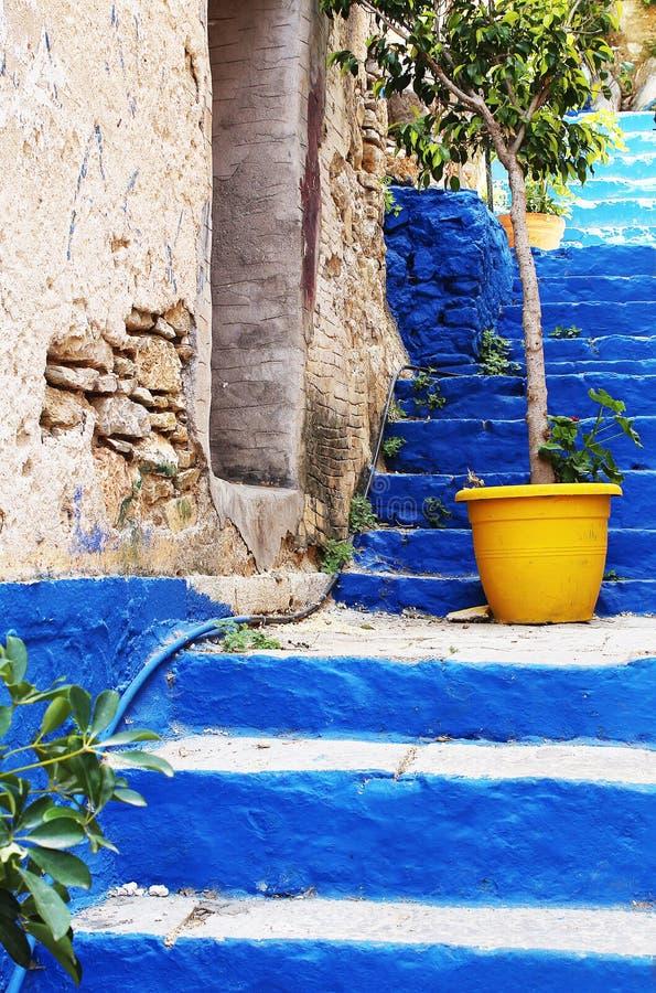 Ciérrese para arriba en la escalera de Kali Strata; foto de archivo
