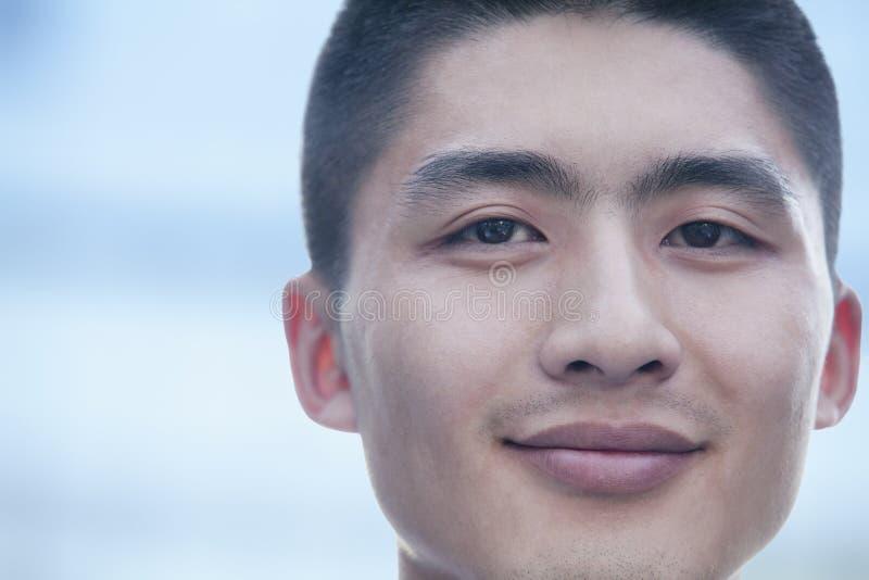 Ciérrese para arriba en los hombres de negocios jovenes, retrato fotografía de archivo