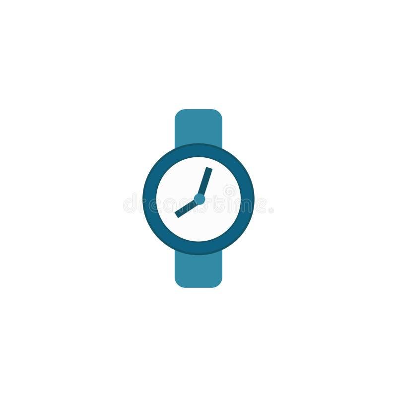 Ciérrese para arriba en un fondo blanco Reloj azul del color Fondo blanco Ilustración del vector EPS 10 ilustración del vector