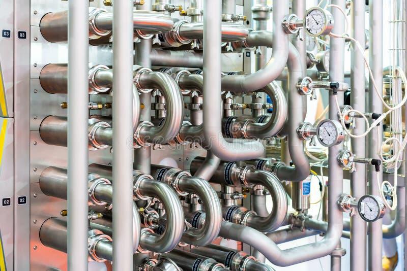 Ciérrese para arriba fuera del tubo con el indicador de presión industrial de la alta precisión para el sistema de la temperatura foto de archivo libre de regalías