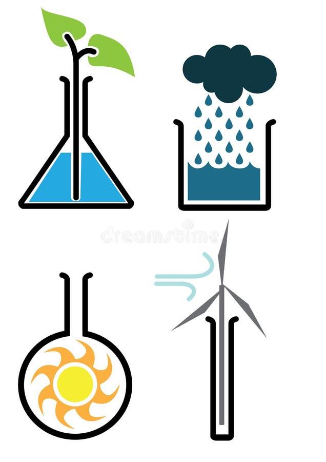 Ciência ambiental ilustração stock
