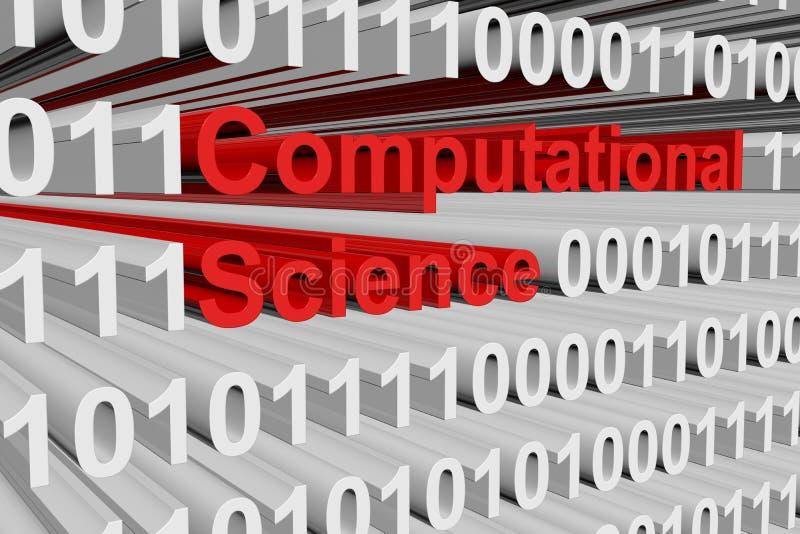 Ciência computacional ilustração stock