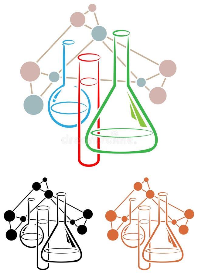 Ciência da química ilustração stock