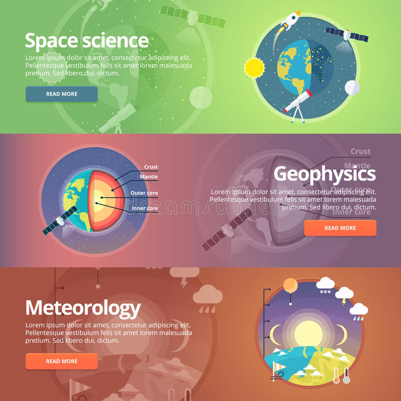 Ciência da terra Exploração de espaço geophysics ilustração stock