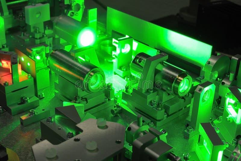 Ciência do laser fotografia de stock royalty free
