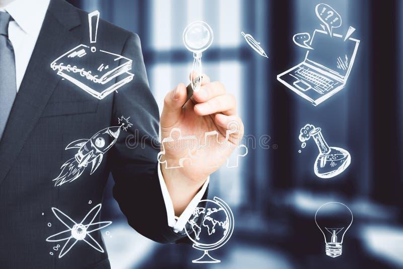 Ciência e conceito do conhecimento ilustração royalty free