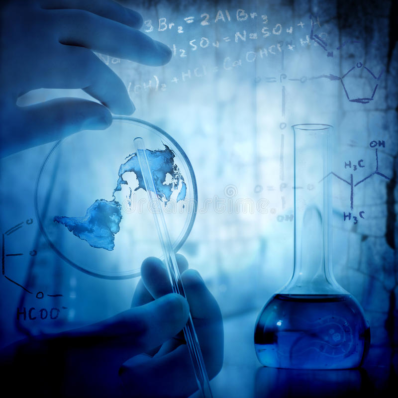 Ciência e fundo médico imagem de stock