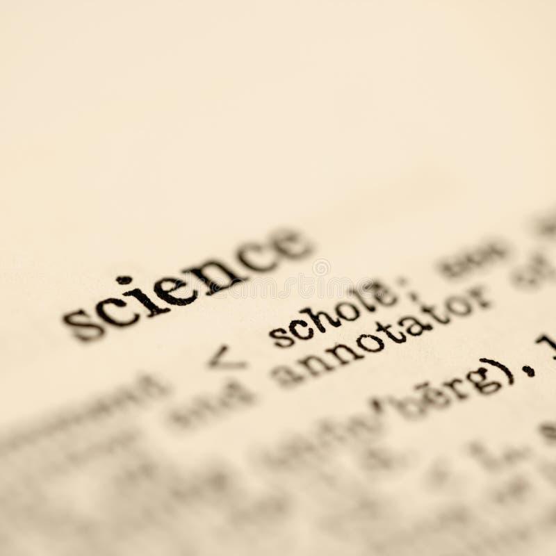 Ciência no dicionário. imagens de stock royalty free