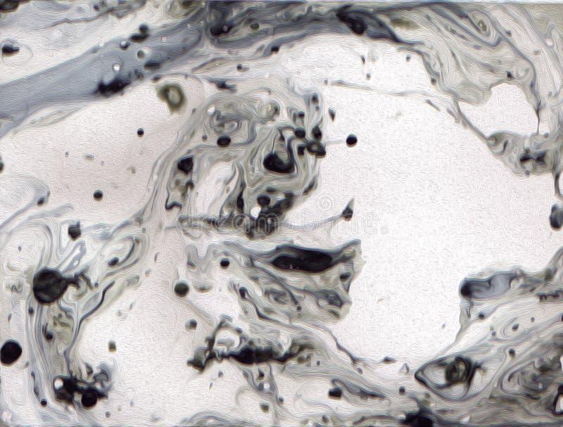 A ciência orgânica gosta microscópico como o cinza, textura abstrata preto e branco ilustração stock