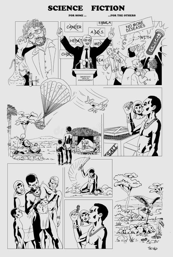 Ciência para algum Ficção para a outro ilustração do vetor