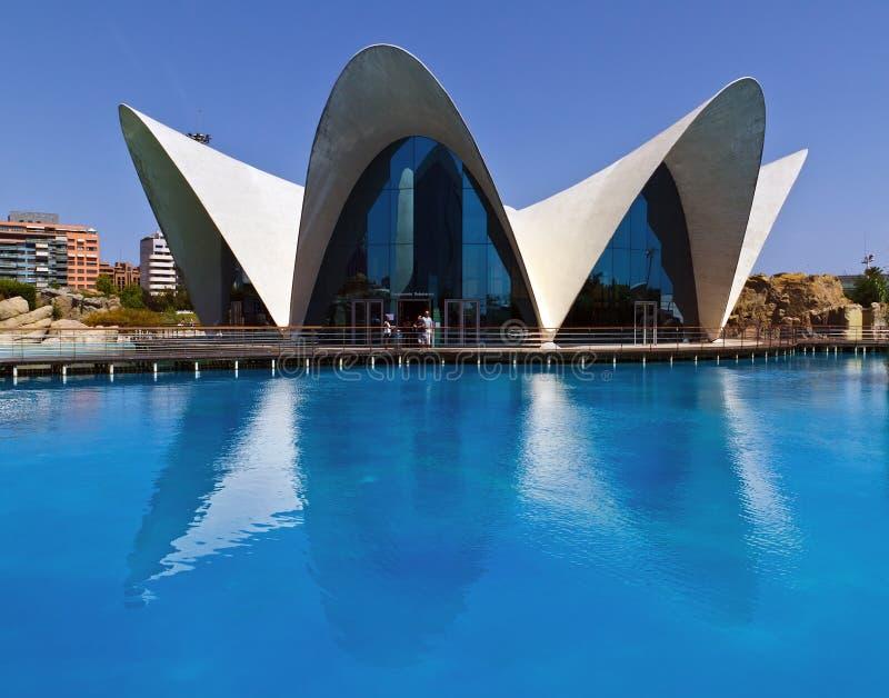 Ciências Valença das artes da cidade de Oceanografic, Spain imagens de stock