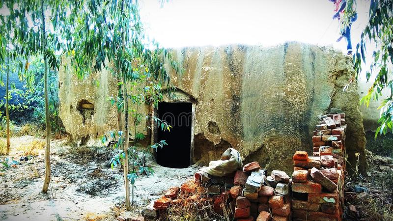 Ciò è casa indiana della vecchia scuola immagine stock libera da diritti