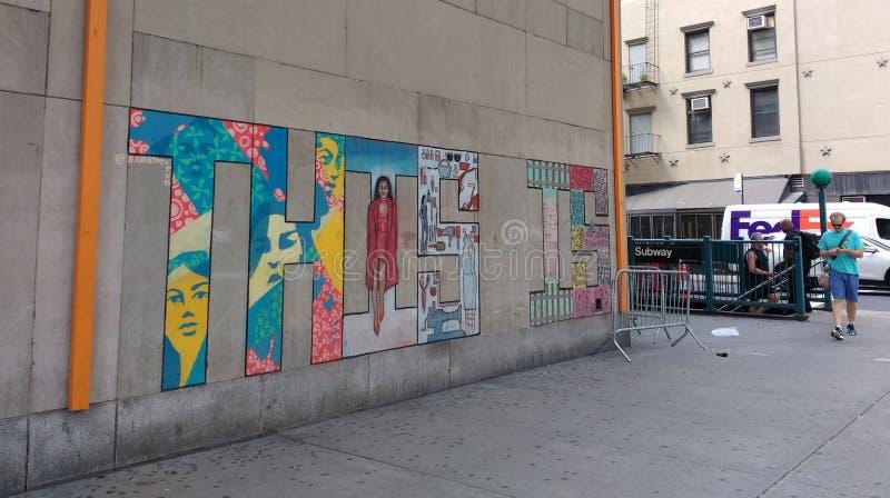 Ciò è, Chelsea Wall Mural, New York, U.S.A. immagine stock libera da diritti