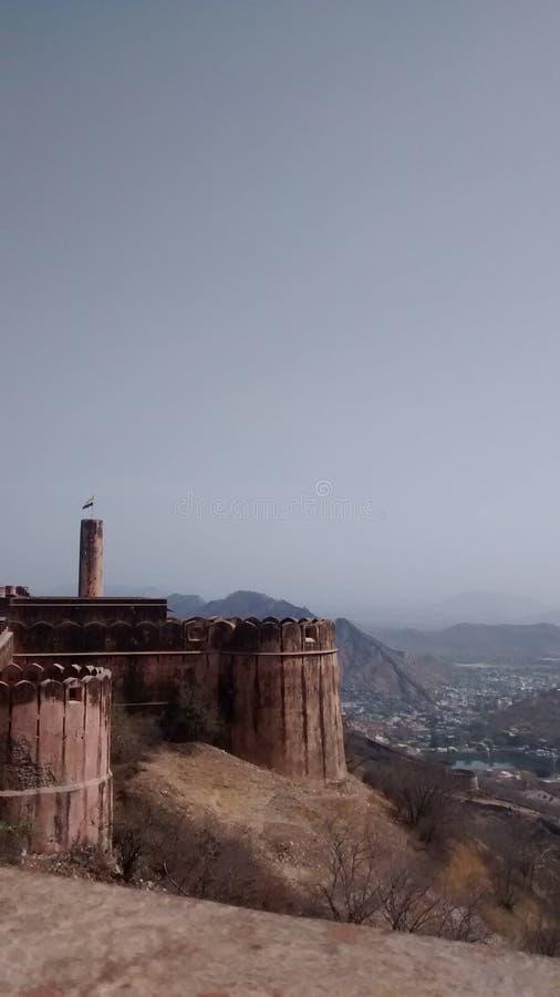 Ciò è la vista dalla fortificazione di Jaigarh fotografie stock libere da diritti