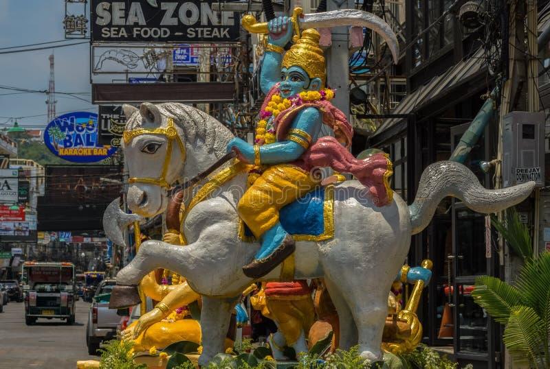Ciò è una decorazione variopinta, che è stata fatta per l'inizio di Songkran, vigilia dei nuovi anni di Thailands fotografia stock libera da diritti