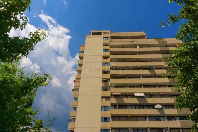 Ciò è una delle tre vecchie torri dell'appartamento in Winnenden fotografie stock libere da diritti