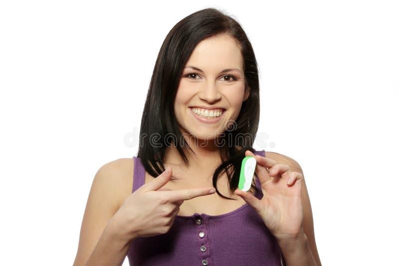 ciążowy test obraz stock