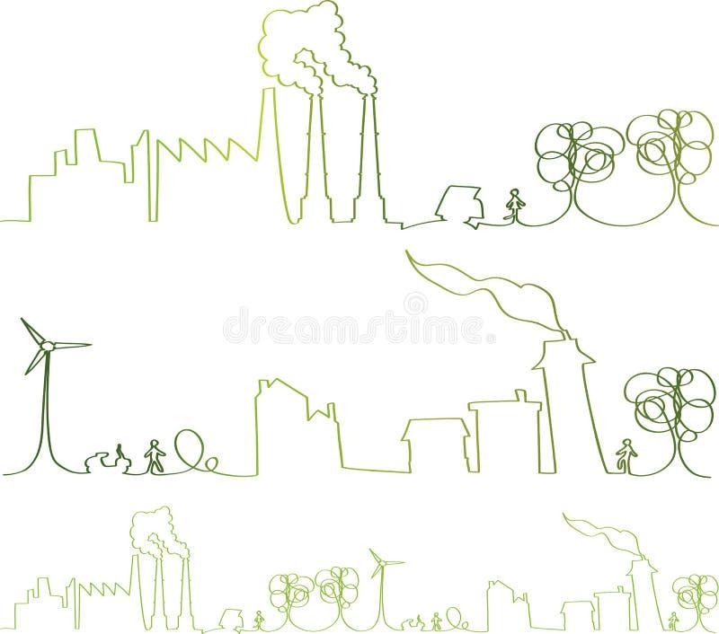 ciągła zielona lina wektor royalty ilustracja
