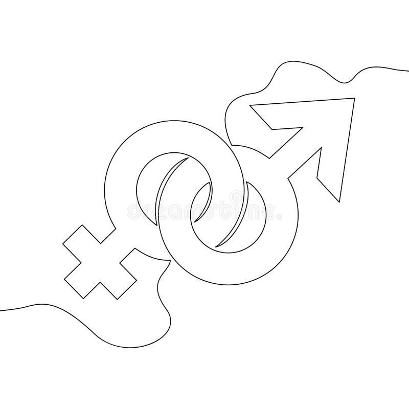 Ciągły jeden wykłada patroszonych rodzajów symbole wektorowych ilustracja wektor