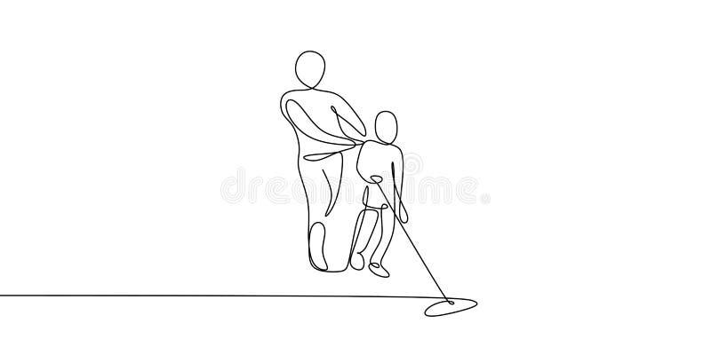 ciągły kreskowy rysunek dwa x27 people&; s narzędzia jest czysty royalty ilustracja