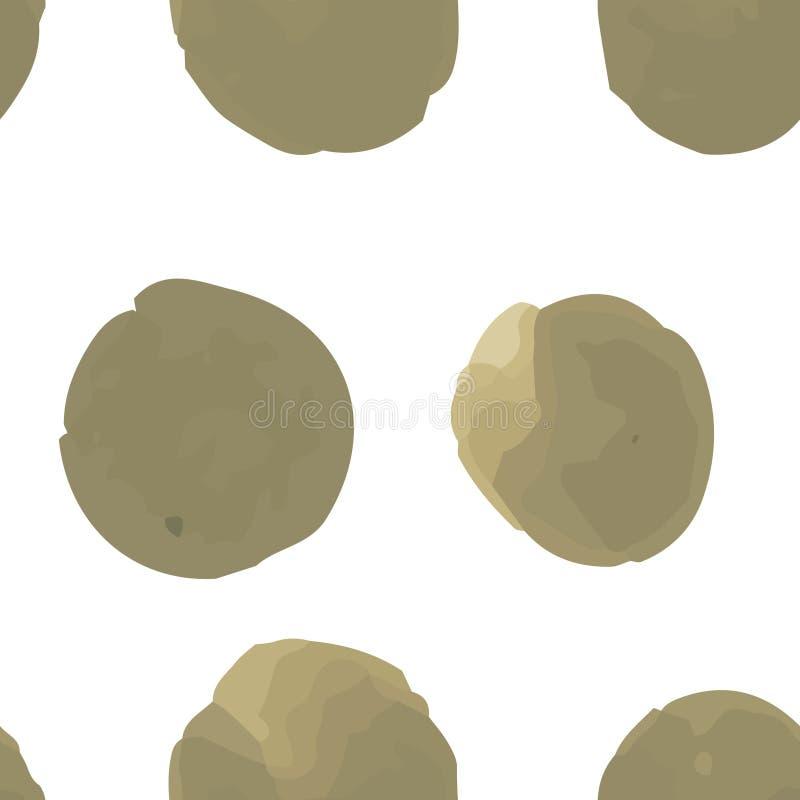 Ciągły Niezwykły Deseniowy polki kropki Przeważny desaturated ciemny kolor żółty fotografia stock