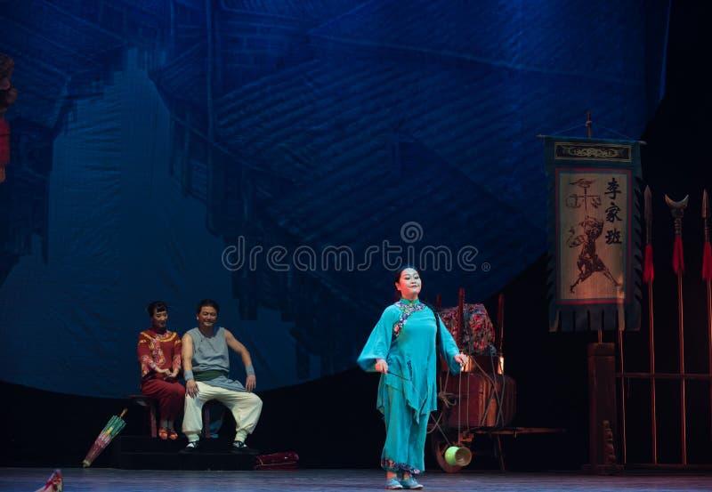 Ciągnie akrobatyczną showBaixi sen noc zdjęcie stock