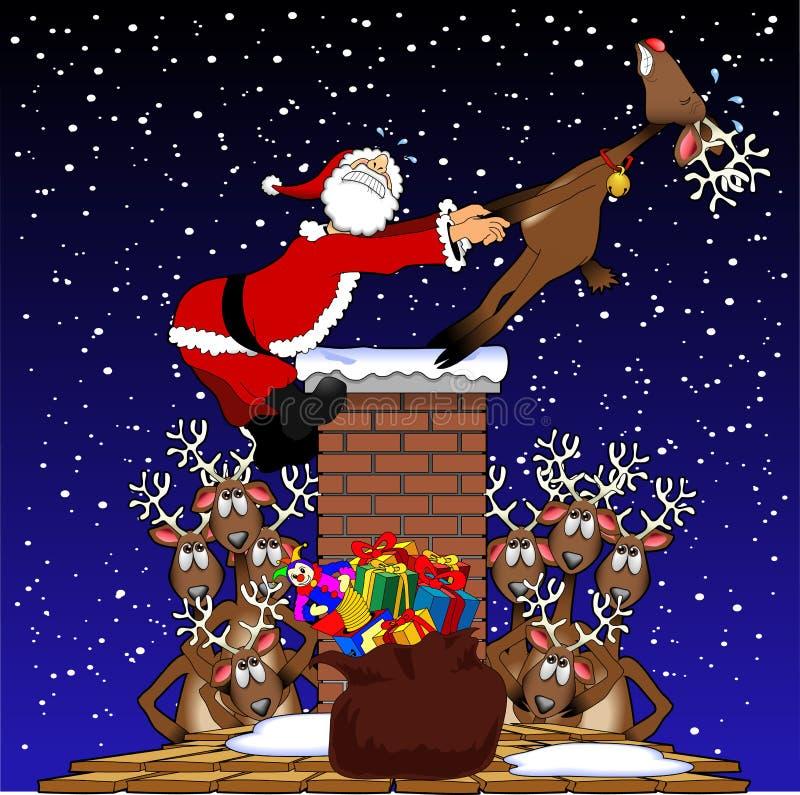 ciągnienie Santa ilustracji