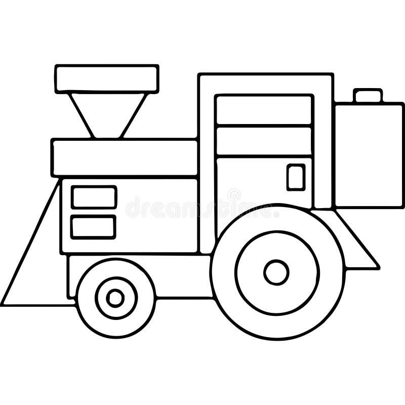 Ciągnik żartuje geometrical postacie barwi stronę ilustracji