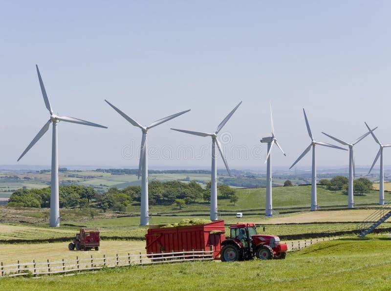 ciągnik turbiny wiatr fotografia royalty free
