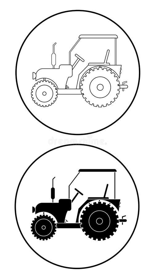 Ciągnikowy ikona set ilustracji