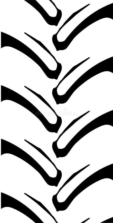 Ciągnikowy stąpanie wzór ilustracja wektor