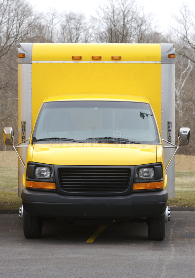 ciężarówka żółte pudełko zdjęcia stock