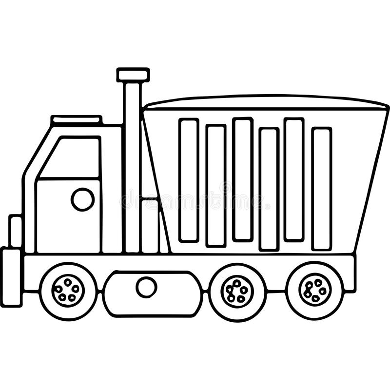 Ciężarówka żartuje geometrical postacie barwi stronę ilustracji