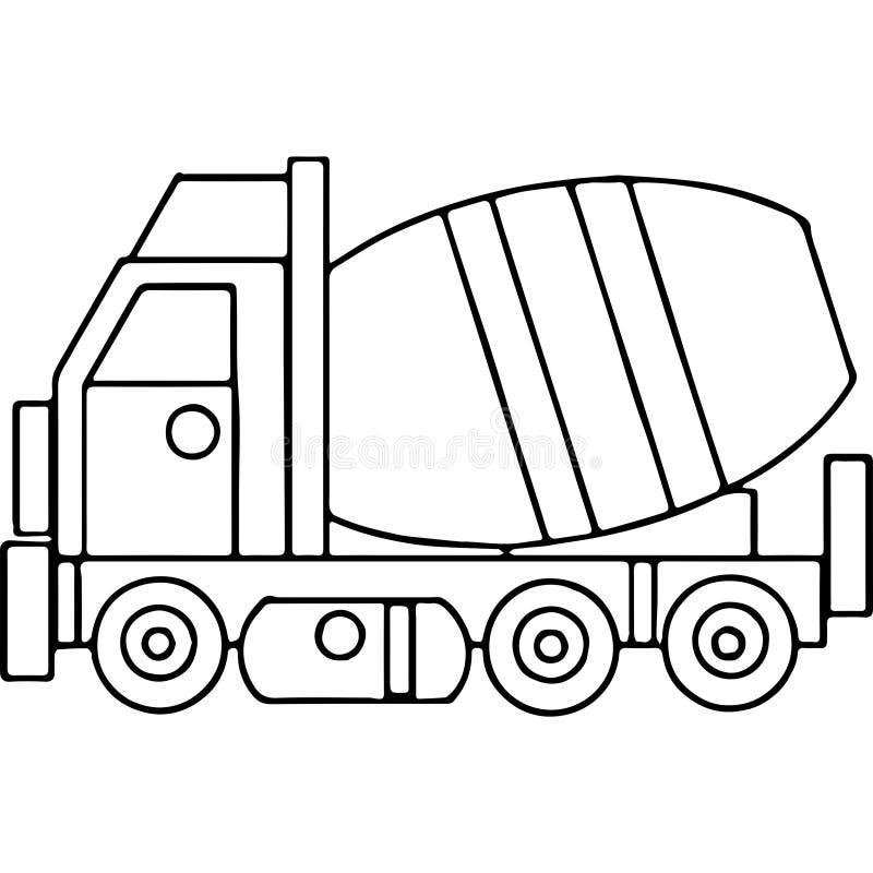Ciężarówka żartuje geometrical postacie barwi stronę royalty ilustracja