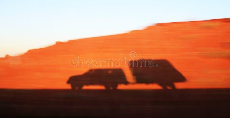 ciężarówka cień przyczepy zdjęcia stock