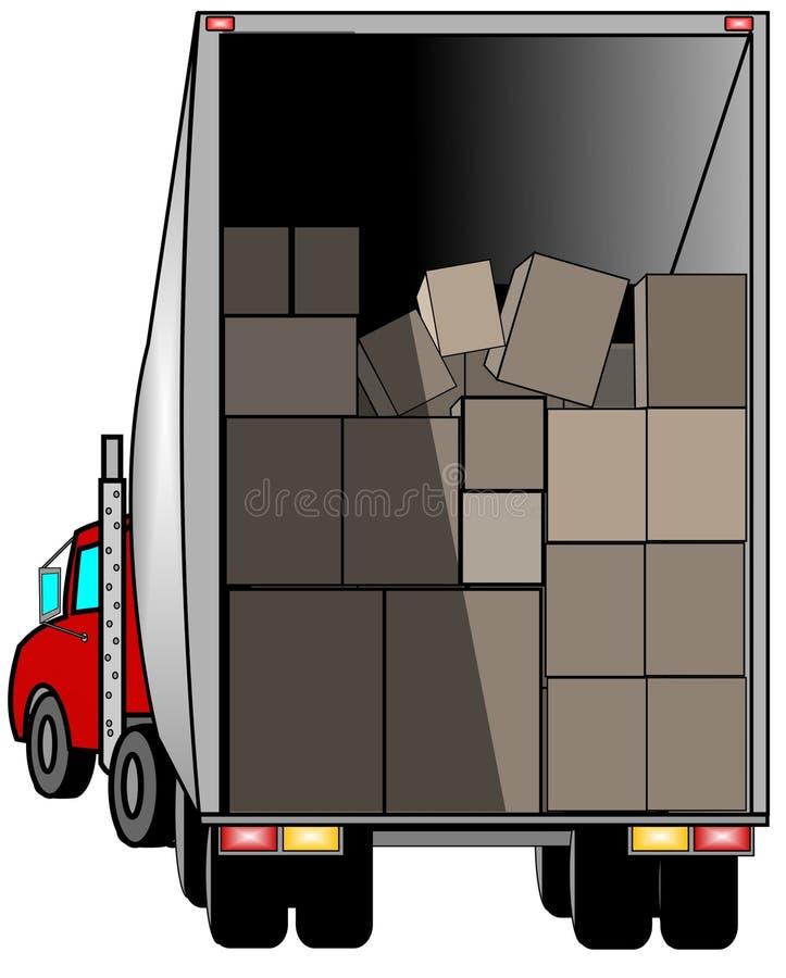 ciężarówka dostawy ilustracja wektor