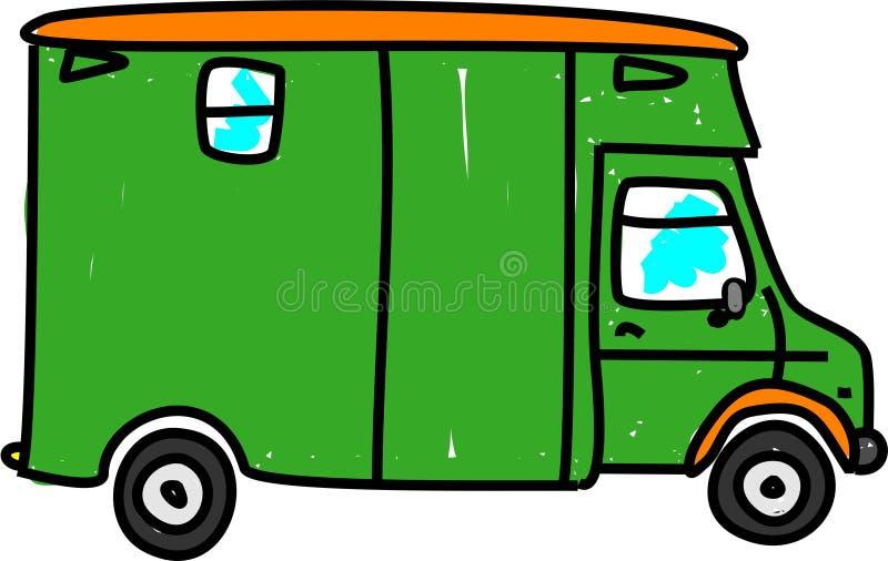 ciężarówka końska royalty ilustracja