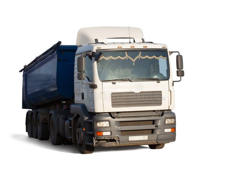 Ciężarówka na białym tle fotografia royalty free